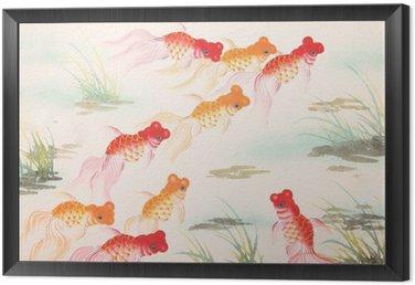 Obraz w Ramie Chińskie malowanie rybka