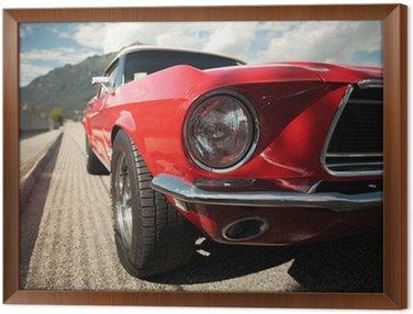 Obraz w Ramie Classic Car Muscle