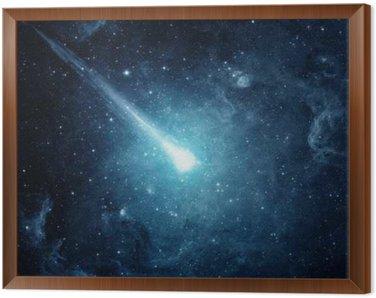 Obraz w Ramie Comet w rozgwieżdżone niebo. Elementy tego zdjęcia dostarczone przez NASA.