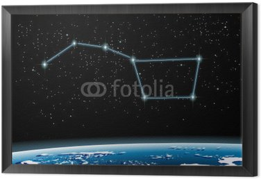 Obraz w Ramie Constellation Ursa Major