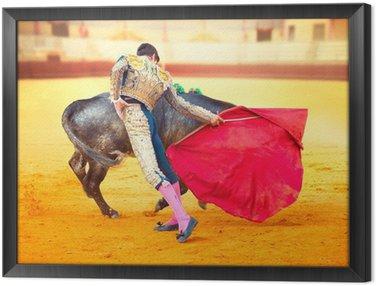 Obraz w Ramie Corrida. Walka Matador w typowym Walki byków hiszpański