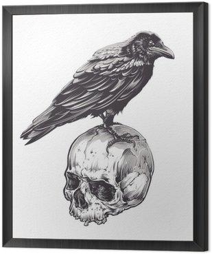 Obraz w Ramie Crow na Czaszki