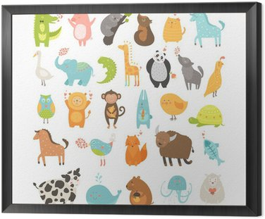 Obraz w Ramie Cute Animals Collection
