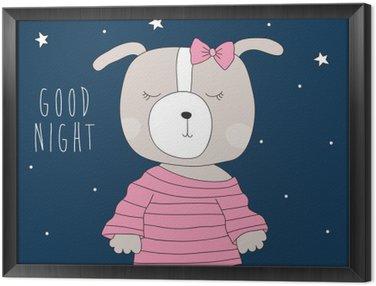 Obraz w Ramie Cute dog piżamie ilustracji wektorowych