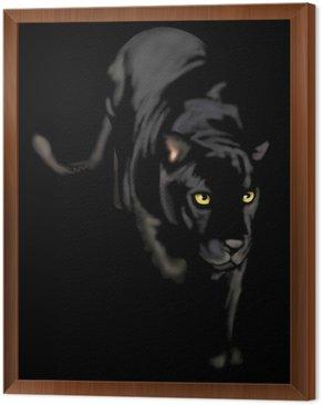 Obraz w Ramie Czarna pantera nocy