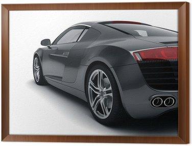 Obraz w Ramie Czarny samochód sportowy