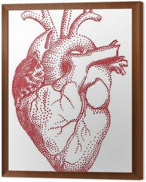 Obraz w Ramie Czerwone serca, ilustracji wektorowych