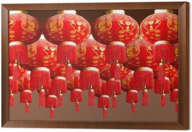 Obraz w Ramie Czerwonych latarni China Style