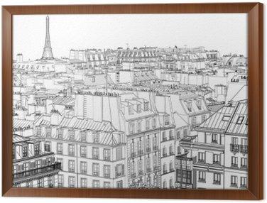 Obraz w Ramie Dachy w Paryżu