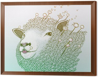 Obraz w Ramie Dandelion Wiosna równie