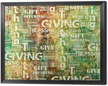 Obraz w Ramie Dawanie i Dziesięcina Tło