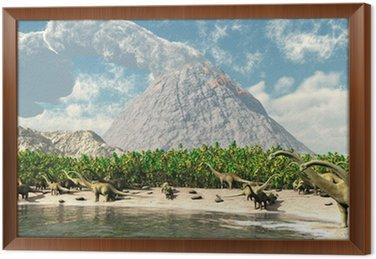 Obraz w Ramie Dinozaury