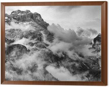 Obraz w Ramie Dolomity w czerni i bieli