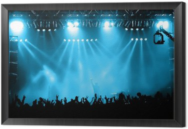Obraz w Ramie Doping kibiców na koncert, muzycy na scenie