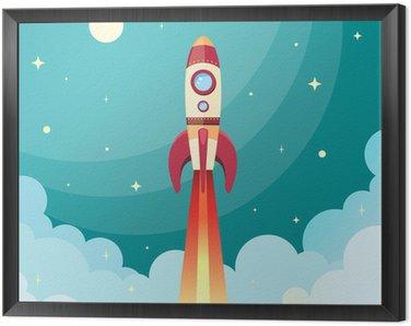 Obraz w Ramie Drukuj rakieta kosmiczna