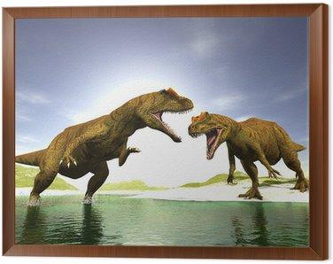 Obraz w Ramie Dwa dinozaury