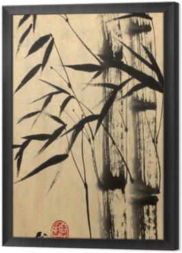 Obraz w Ramie Dwa drzewa bambusowe