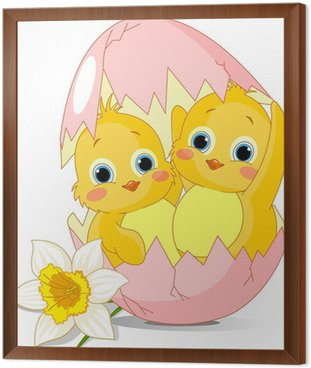Dwa kurczaki wielkanocne wykluły się z jajka