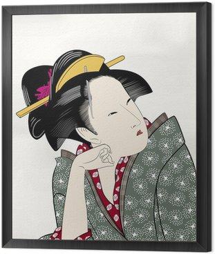 Obraz w Ramie Edo Drzeworyty ukiyo Hui piękny obraz 15