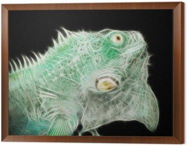 Obraz w Ramie Energiczny jaszczurki (streszczenie)