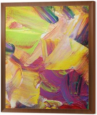 Obraz w Ramie Farbtexturen auf Leinwand