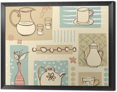 Obraz w Ramie Filiżanka i czajniczek