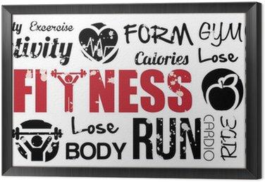 Obraz w Ramie Fitness