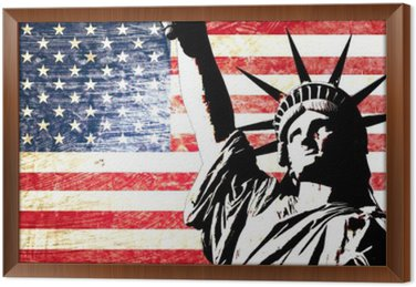 Flaga USA Statua Wolności