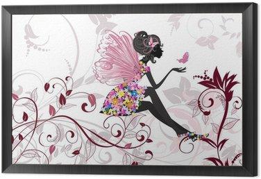 Obraz w Ramie Flower Fairy z motyli