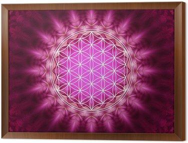 Obraz w Ramie Flower of Life - energetyzujący, Sacred Geometry