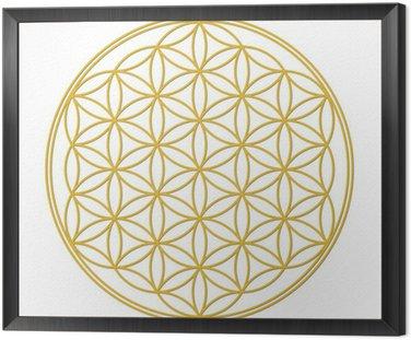 Obraz w Ramie Flower of Life z cieniem złotym