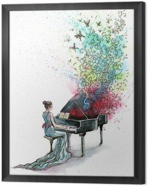 Obraz w Ramie Fortepian muzyka (seria C)