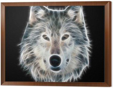 Obraz w Ramie Fractal ilustracji wilka
