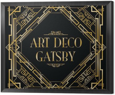 Obraz w Ramie Gatsby tła w stylu art deco