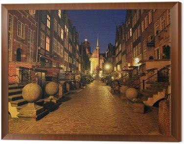 Obraz w Ramie Gdańsk ulica Mariacka