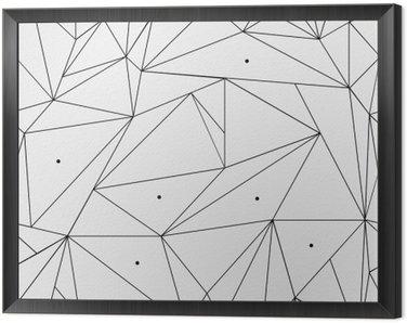 Geometryczne proste czarno-białe minimalistyczny wzór, trójkąty lub witraż. Może być używany jako tapeta, tło lub tekstury.