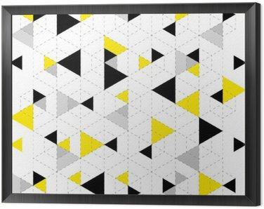 Obraz w Ramie Geometryczny wzór w tle