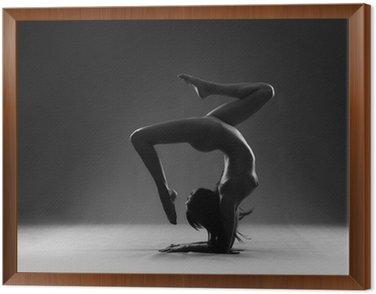 Obraz w Ramie Gimnastyka nago