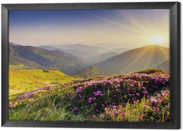Obraz w Ramie Górski krajobraz