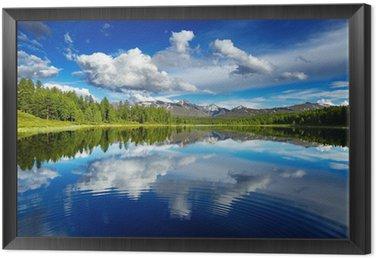 Obraz w Ramie Górskie jezioro