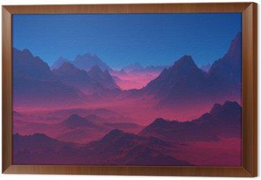 Obraz w Ramie Góry o zachodzie słońca