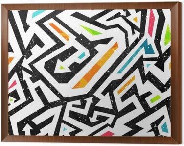 Obraz w Ramie Graffiti - bez szwu