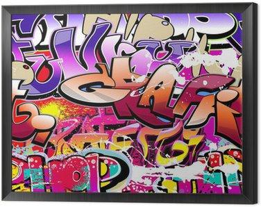 Obraz w Ramie Graffiti bezszwowe tło. hip-hop miejskiego sztuki