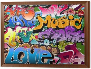 Obraz w Ramie Graffiti bezszwowe tło. hip-hop sztuki