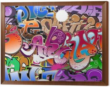 Obraz w Ramie Graffiti bezszwowe tło