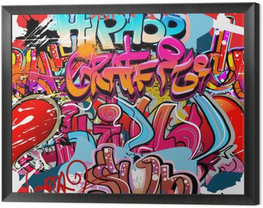 Obraz w Ramie Graffiti, hip hop miejska sztuka tło