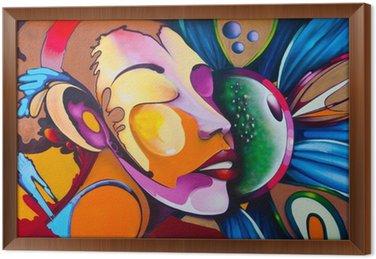 Obraz w Ramie Graffiti twarz