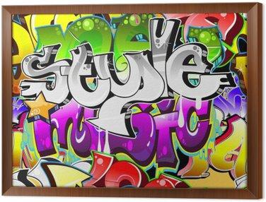 Obraz w Ramie Graffiti Urban Art tle. powtarzalne projekt