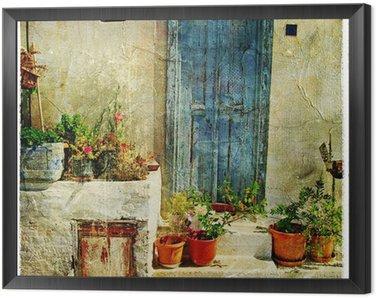Obraz w Ramie Grecki, ulice, artystyczny obraz