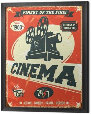Obraz w Ramie Grunge retro kinowy plakat. ilustracji wektorowych.